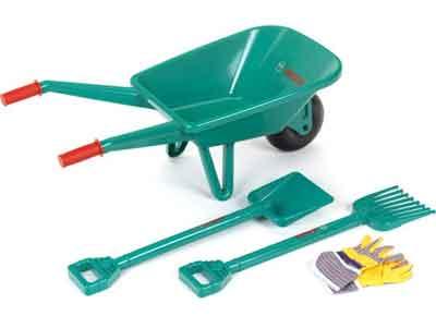 Bosch Speelgoed Kruiwagen en Tuingereedschap